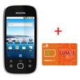 中国SIMカード COMST コムスト 10000 & SIMフリースマートフォン Rstream A1(ブラック) セット