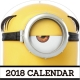 怪盗グルーのミニオン大脱走 2018 カレンダー