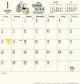 ホワイトボード くまのプーさん 2019 カレンダー