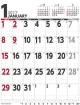壁掛けスケジュール タテ型 カレンダー 2017