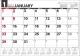 壁掛けスケジュール ヨコ型 カレンダー 2017