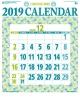 星座入り文字月表 2019 カレンダー