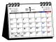 シンプル卓上カレンダー[月曜始まり/A6ヨコ] 2017