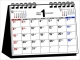 シンプル卓上カレンダー[B6ヨコ] 2017