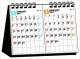 2ヵ月タイプ シンプル卓上カレンダー[B6ヨコ] 2017
