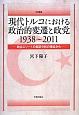 現代トルコにおける政治的変遷と政党 1938~2011 政治エリートの実証分析の視点から