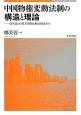 中国物権変動法制の構造と理論