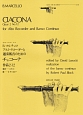 アルトリコーダーと通奏低音のための チャコーナ 作品2-12/B.マルチェロ
