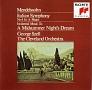 メンデルスゾーン:交響曲第4番「イタリア」、劇音楽「夏の夜の夢」 序曲「フィンガルの洞窟」