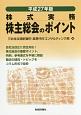 株主総会のポイント 平成27年 株式実務