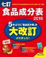 食品成分表 2016 便利な2分冊!