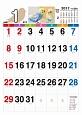 シンプルカレンダー B3 インコ 2017