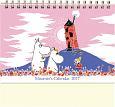 ムーミン卓上カレンダー(家と花畑) 2017