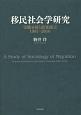 移民社会学研究 実態分析と政策提言 1987-2016