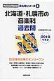 北海道・札幌市の音楽科 過去問 教員採用試験過去問シリーズ 2018