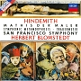 ヒンデミット:交響曲≪画家マティス≫ ウェーバーの主題による交響的変容 葬送音楽