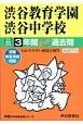 渋谷教育学園渋谷中学校 3年間スーパー過去問 声教の中学過去問シリーズ 平成30年