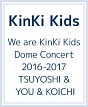 We are KinKi Kids Dome Concert 2016-2017 TSUYOSHI & YOU & KOICHI(通常盤)