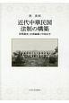 近代中華民国法制の構築 習慣調査・法典編纂と中国法学