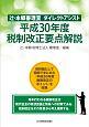 辻・本郷審理室 ダイレクトアシスト 平成30年度税制改正要点解説