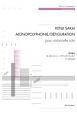 酒井健治:モノポリフォニー/デフィギュラシオン チェロのための